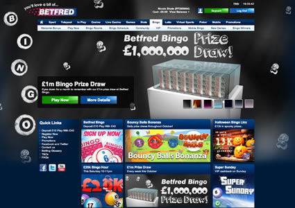Betfred Bingo Home