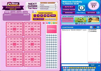 Bingo Clubhouse 75 Ball Game