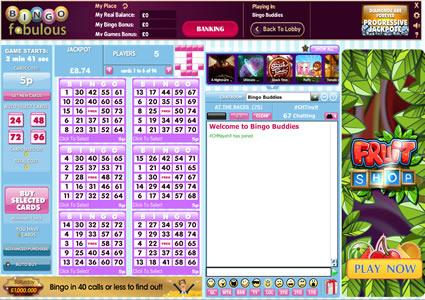Bingo Fabulous 75 Ball Game