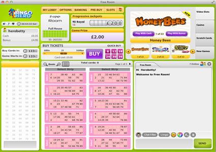 Bingo Hero 90 Ball Game