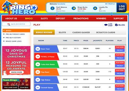Bingo Hero Lobby