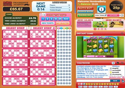 Bingo Hombre 90 Ball Game