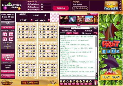 Bingo Lottery 75 Ball Game