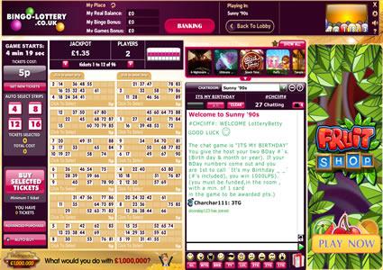 Bingo Lottery 90 Ball Game