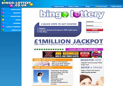 Bingo Lottery Home