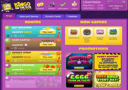 Bingo OnTheBox Lobby