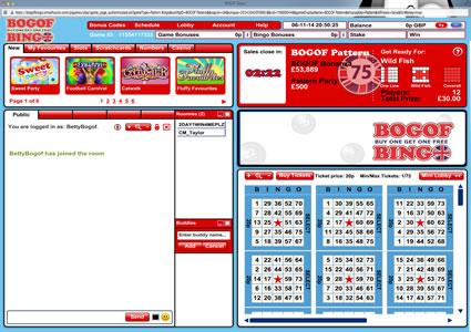BOGOF Bingo 75 Ball Game