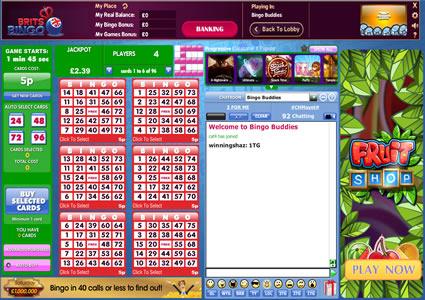 Brits Bingo 75 Ball Game