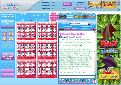 Bubble Bonus Bingo 75 Ball Game