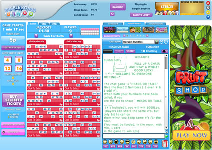 Bubble Bonus Bingo 90 Ball Game