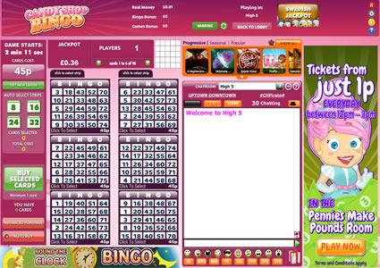 Candy Shop Bingo 75 Ball Game