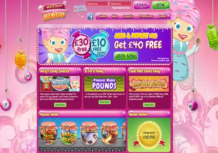 Candy Shop Bingo Home