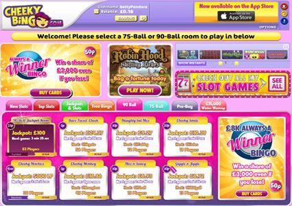 Cheeky Bingo Lobby