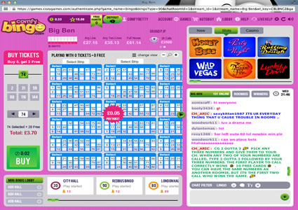 Comfy Bingo 90 Ball Game
