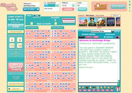 Cupcake Bingo 90 Ball Game