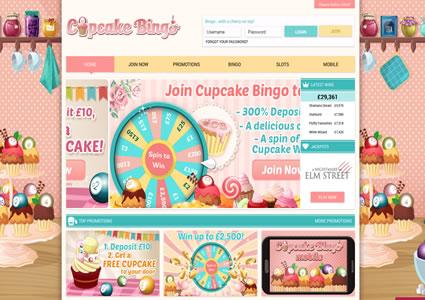 Cupcake Bingo Home