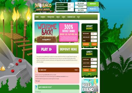 Dino Bingo Home