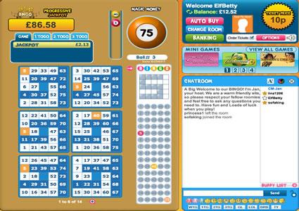 Elf Bingo 75 Ball Game
