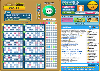 Elf Bingo 90 Ball Game