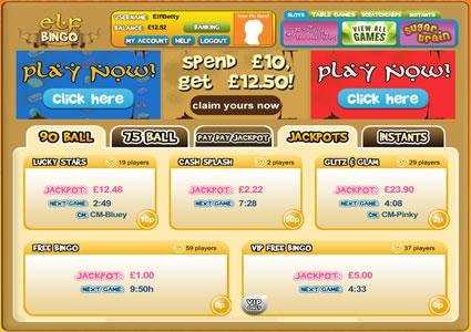 Elf Bingo Lobby