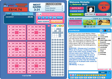 Film Bingo 75 Ball Game