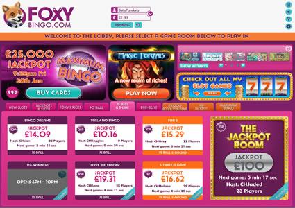 Foxy Bingo Lobby
