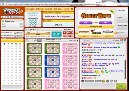 House Of Bingo 75 Ball Game