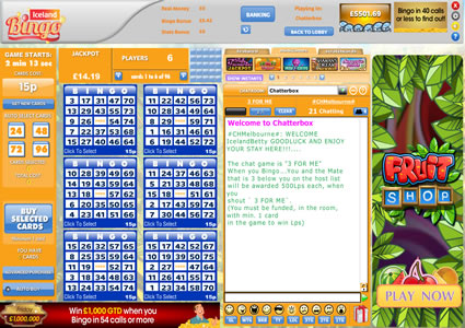 Iceland Bingo 75 Ball Game