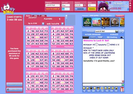 Loony Bingo 75 Ball Game