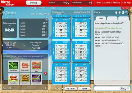 Mirror Bingo 75 Ball Game