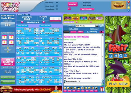 Nutty Bingo 90 Ball Game