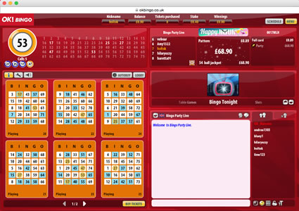 OK Bingo 75 Ball Game
