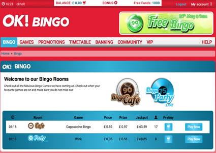 OK Bingo Lobby