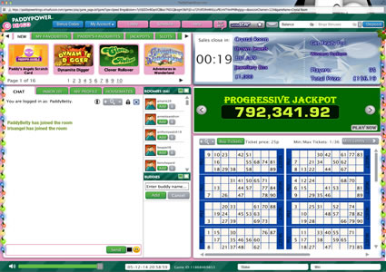 Paddy Power Bingo 90 Ball Game