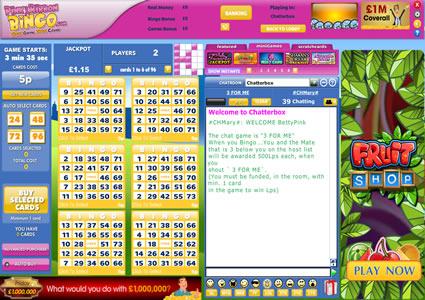 Pink Ribbon Bingo 75 Ball Game