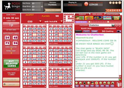 Posh Bingo 75 Ball Game