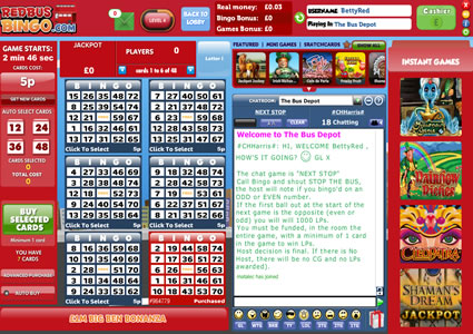 red bus bingo app