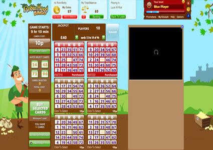 Robin Hood Bingo 75 Ball Game