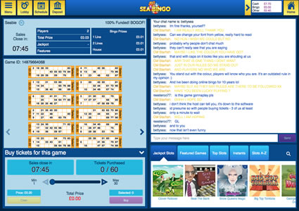 Sea Bingo 90 Ball Game
