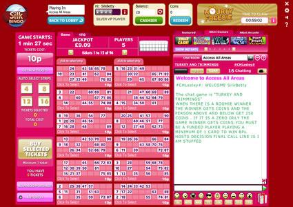 Silk Bingo 90 Ball Game
