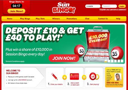 Sun Bingo Home