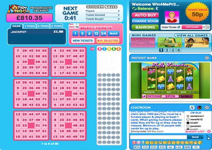 Tidy Bingo 75 Ball Game