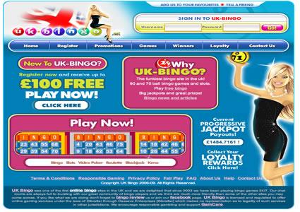 UK Bingo Home