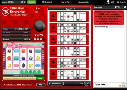 Virgin Bingo 90 Ball Game