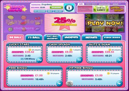 Zingo Bingo Lobby