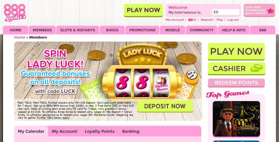 888Ladies Homepage