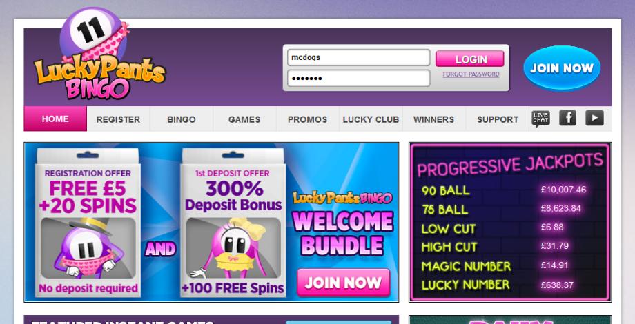 Lucky Pants Bingo 920 x 470