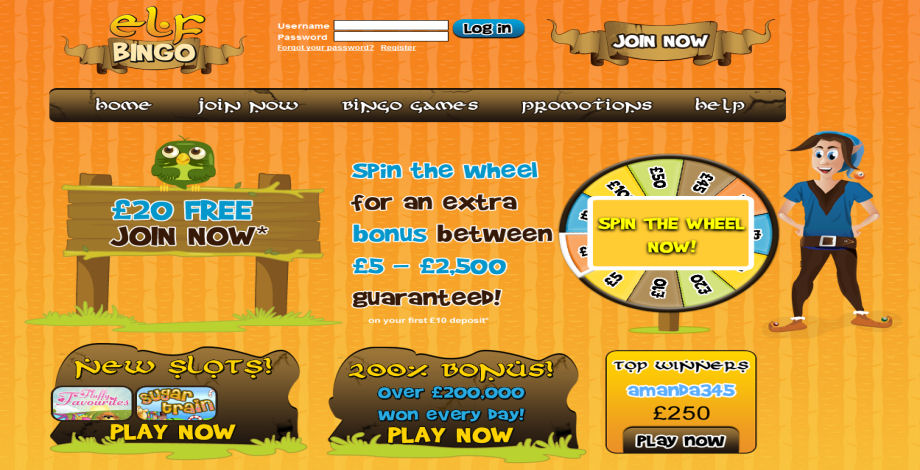 Elf Bingo - Site Of The Month