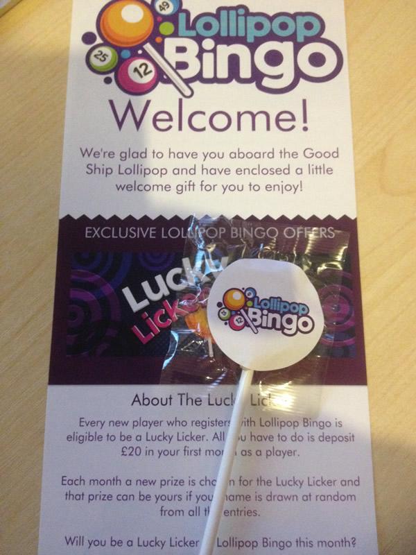 Free Lollipop And Flyer - Lollipop Bingo